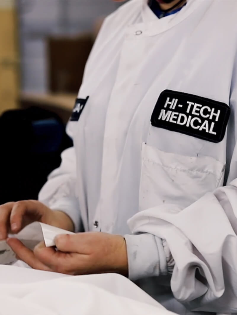 hitech medical employee closeup